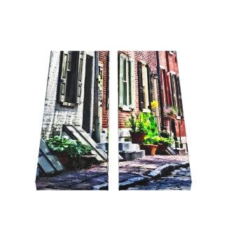 Lienzo Calle del PA de Philadelphia con las macetas