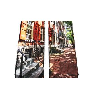 Lienzo Calle del PA de Philadelphia con los obturadores