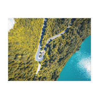 Lienzo Camino del paisaje el | de la visión aérea