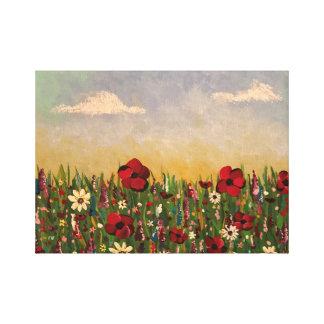 Lienzo Campo de flores