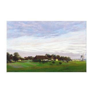 Lienzo Campo plano de Caspar David Friedrich
