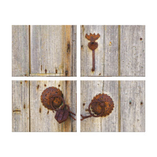 Lienzo Candado viejo del hierro del vintage oxidado en un