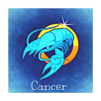 Lienzo Cangrejo azul del vintage del cáncer