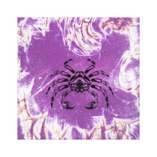 Lienzo Cangrejo púrpura del vintage del cáncer