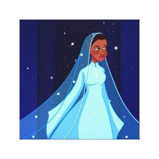 Lienzo Canvas Print de princesa Stretched modesto azul