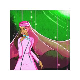 Lienzo Canvas Print de princesa Stretched modesto rosado