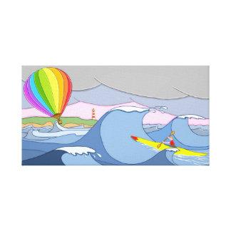 Lienzo Capitán Kayak y el globo