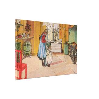 Lienzo Carl Larsson la cocina