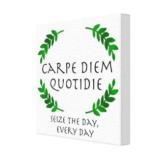 Lienzo Carpe Diem Quotidie - agarre el día, cada día