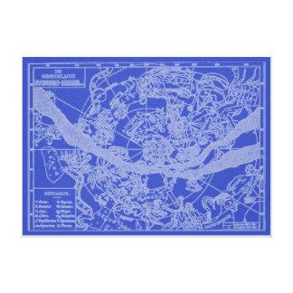 Lienzo Carta celestial de la recopilación del zodiaco del