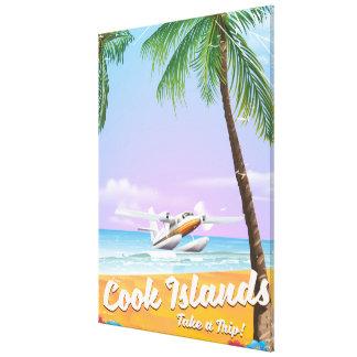 Lienzo Cartel de la playa del viaje del vintage de las