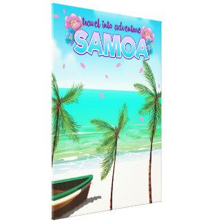 """Lienzo Cartel del viaje de la aventura de Samoa """"viaje"""