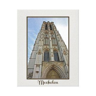 Lienzo Catedral Bélgica de Mechelen