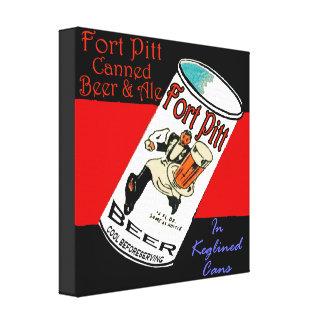 Lienzo Cerveza de Pitt del fuerte
