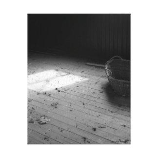 Lienzo Cesta en blanco y negro