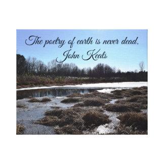 Lienzo Charca helada w/Quote de John Keats