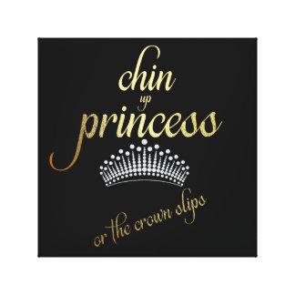 Lienzo Chin encima de la princesa o de los resbalones de