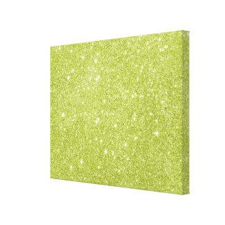 Lienzo Chispas del brillo de la verde lima