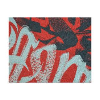 Lienzo Cierre de moda abstracto de la pintada encima del