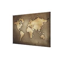 Ciérrese para arriba del mapa del mundo antiguo 5