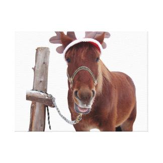 Lienzo Ciervos del caballo - caballo del navidad -