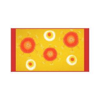 Lienzo Círculo amarillo de la lona