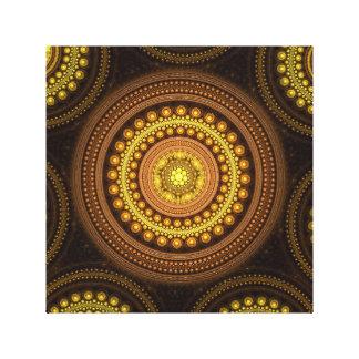 Lienzo Círculos del fractal