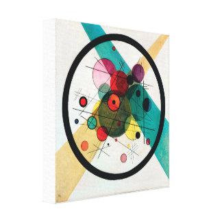 Lienzo Círculos en un círculo de Wassily Kandinsky