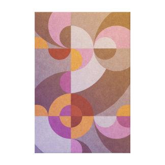 Lienzo Círculos retros abstractos geométricos en colores
