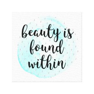 Lienzo Cita de la belleza de la acuarela