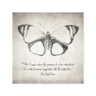 Lienzo Cita de la mariposa
