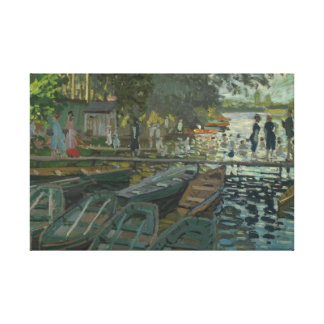 Lienzo Claude Monet - bañistas en el La Grenouillere