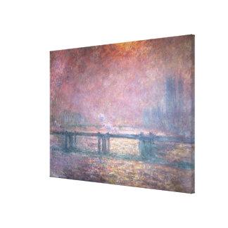 Lienzo Claude Monet el   el Thames en Charing Cross, 1903
