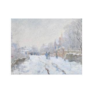 Lienzo Claude Monet - escena de la nieve en Argenteuil