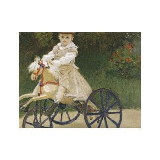 Lienzo Claude Monet - Jean Monet en su caballo de la