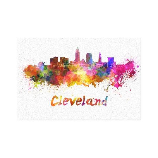 Lienzo Cleveland skyline in watercolor