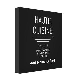 Lienzo Cocina francesa divertida de Haute del cocinero