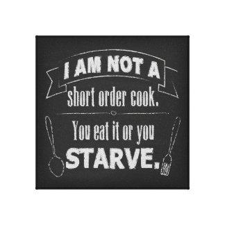 Lienzo Cocinero de breve plazo