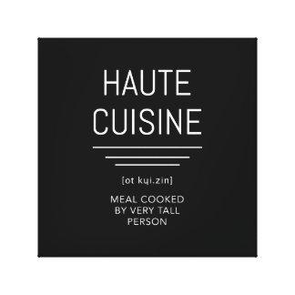 Lienzo Cocinero francés divertido de la cocina de Haute