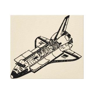 Lienzo cohete de espacio