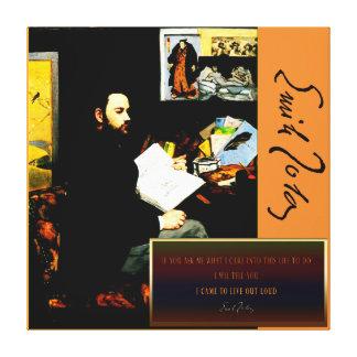 Lienzo Collage de Emile Zola