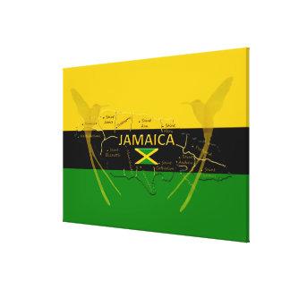 Lienzo Colores de las parroquias de Jamaica que tararean