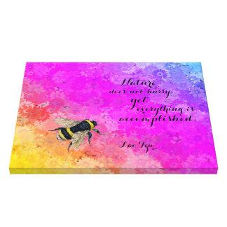 Lienzo Colores y abejorro - cita del arco iris de las