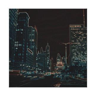 Lienzo Colorido de neón de la noche 1967 de la avenida de