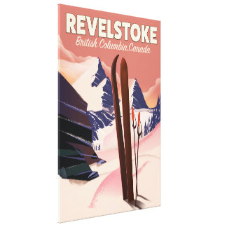 Lienzo Columbia Británica de Revelstoke, poster del esquí
