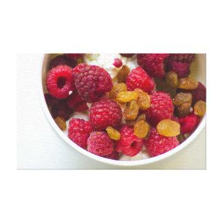 Lienzo Comida de la fotografía de la lona del desayuno de