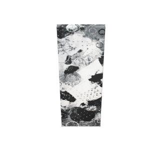 Lienzo composición en blanco y negro abstractamente