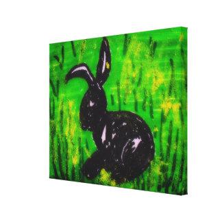Lienzo Conejo en el prado