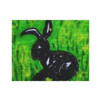 Lienzo Conejo en la hierba