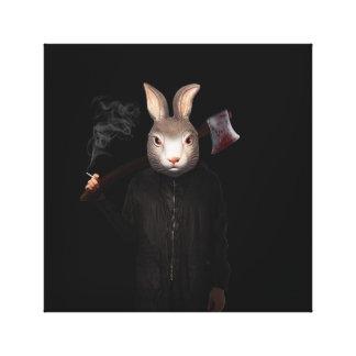 Lienzo Conejo malvado